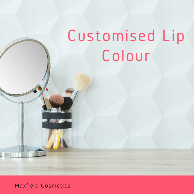 text customised lip colour