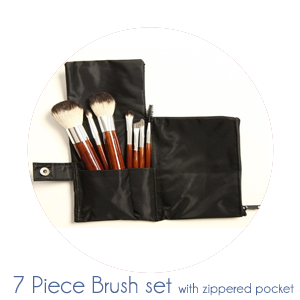 7 piece synthetic brush kit