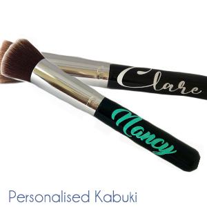 Kabuki brush with personalisation on it